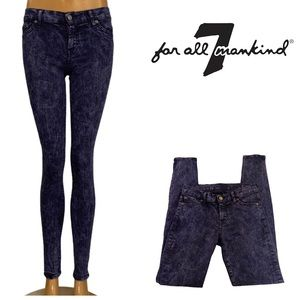 7 For All Mankind Blue Acid Wash 'The Skinny' Jean